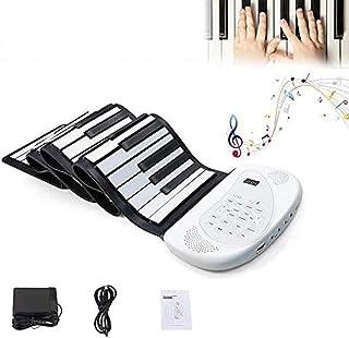 Anonry 電子 ロール ピアノ キーボード ロールアップ ピアノ 安い 128種類音色 80曲模範曲 100リズム 初心者 電子キーボード 88鍵盤 練習 演奏 編曲 キーボード 高音質スピーカー 日本語説明書付き