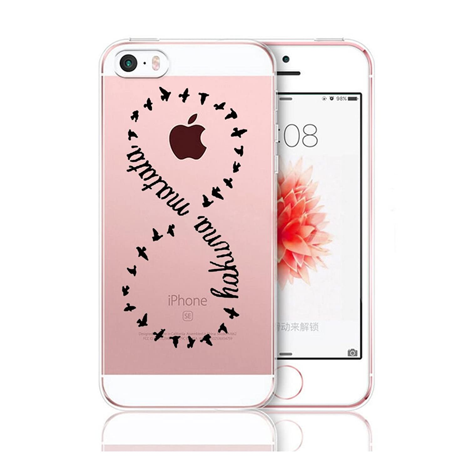 Matop Compatible/Replacement for iPhone 5S 5 SE Case Crystal Clear Transparent Ultra Thin Slim Shockproof Protective Soft Silicone Cover Cute TPU for iPhone5S iPhone5 iPhone SE (Eight)