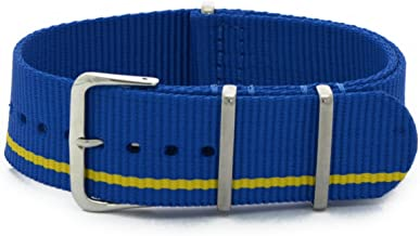 Cassis Type NATO Nylon Watch Strap with Stainless Steel Buckle 22mm with Tool #141.601M