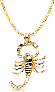 Best 14k gold scorpion charm Reviews