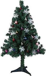 YAMUDA 4 Foot Artificial Christmas Tree Xmas Holiday Decoration with Plastic Stand