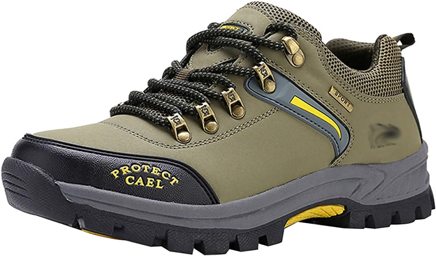 Fuxitoggo Men's Walking Boots Leather Hiking shoes Sneakers For Outdoor Trekking Training Casual Work (color   26, Size   42EU)