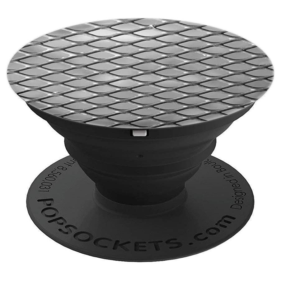 Silver metallic scale texture pop sockets for boys, men girl - PopSockets Grip and Stand for Phones and Tablets