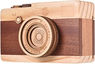 Muslady Wooden Music Box Retro Camera Design Classical Melody Birthday Christmas Festival Musical Gifts Home Office Decora...