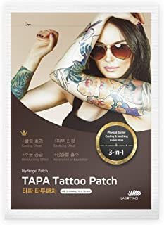 Wooshin Labottach Tapa Tattoo Patch for Tattoo Healing,1 Box (4 Patches)