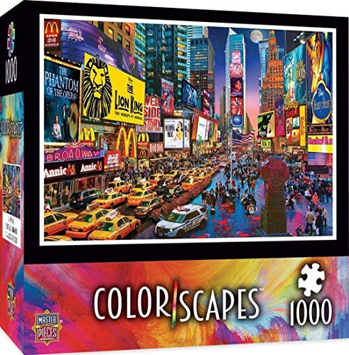 1000 piece puzzles time square - 1