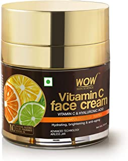 WOW Skin Science Vitamin C Face Cream - Oil Free, Quick Absorbing - For All Skin Types - No Parabens, Silicones, Color, Mi...