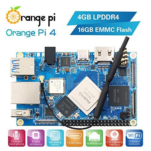Orange Pi 4 Single Board Computer 6-Core ARM 64 Bit...