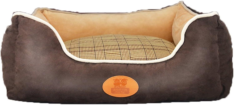 Deluxe soft washable pet dog bed, Warm Basket bed cushion Pillow nest mat Pet caveA M 60x50x21cm(24x20x8inch)