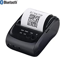 Thermal Printer 2 Inchs Wireless Bluetooth Receipt Printer, MUNBYN 58mm Portable Bill Mini Mobile Printer, Compatible with Android iOS Windows for Small Business ESC/POS/Star, Not Support Square