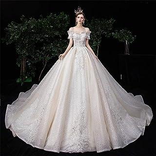 Bröllopsklänning axel fantasi stjärnklar svans damer bröllopsklänning cocktailparty kvällsklänning, LIFU