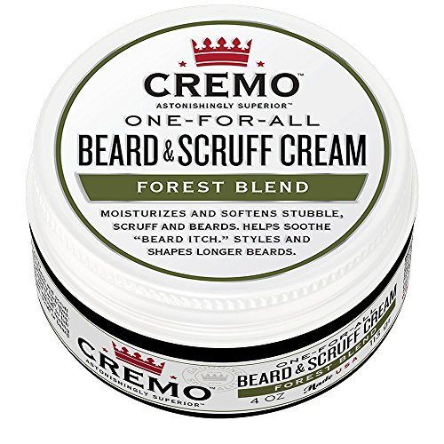Cremo Beard & Scruff Cream, Forest Blend, 4 Ounce - Moisturizes, Styles and Reduces Beard Itch for All Lengths of Facial Hair
