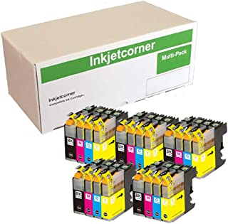 Inkjetcorner Compatible Ink Cartridges Replacement for LC103 LC103XL (5 Black, 5 Cyan, 5 Magenta, 5 Yellow, 20-Pack)