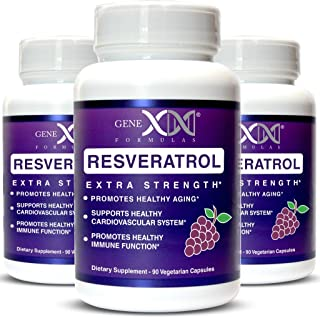 Genex Resveratrol 1500mg 3 Pack -Max Strength - Antioxidant Supplement Extract | Trans-Resveratrol Works Well with NMN Nic...