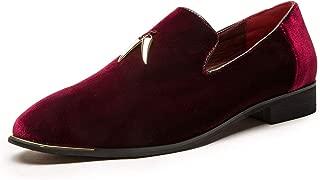 Men's Metallic Penny Slippers Flats Velvet Loafers Slip-On Dress Plus Size Shoes Size 6-13