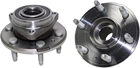 Detroit Axle Both (2) New Driver & Passenger Side Complete Wheel Hub & Bearing Bearing Assembly 6-Lug for For - 2008-2016 Buick Enclave - [09-16 Chevrolet Traverse] - 07-16 GMC Acadia - [07-10 Outlook