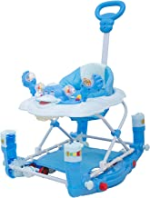 Baybee Cheezy Baby Walker Cum Rocker - Round Kids Walker for Babies Cycle with Music & Light Rattles and Toys Ultra Soft Seat, Push Bar Activity Walker for Kid and Wheel 6 Months to 2 Years (Blue)