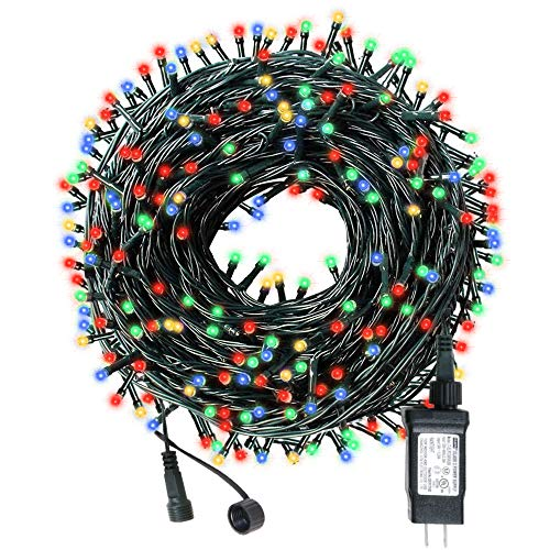 AmyHomie 108Ft 300LED Upgraded Christmas String Lights Outdoor Indoor String Light Weatherproof Decor Light with UL Certified for Patio Garden Holiday Christmas Tree String Lights