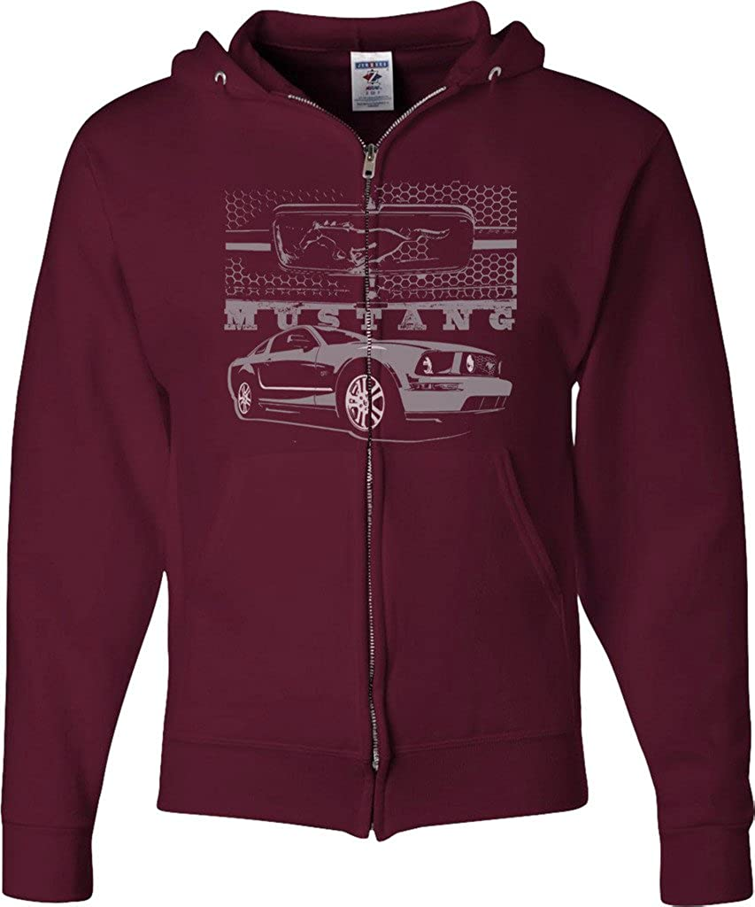 Buy Cool Shirts Mens Ford Hoodie High order Mustang with sale Full Grill Zip