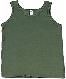 Olive Drab Army Issue Tee Shirt Tank Top Underwear T-Shirt