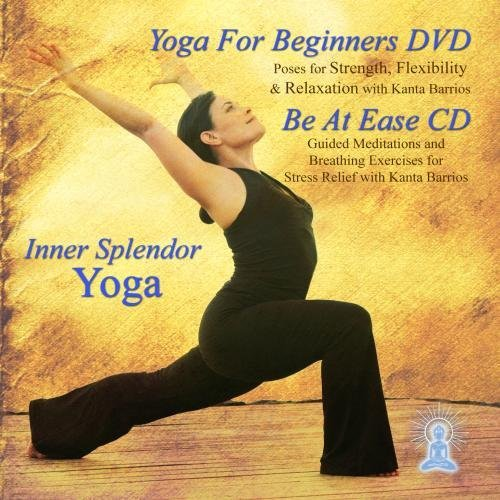 Yoga for Beginners DVD and Be At Ease Guided Meditation by Inner Splendor Meditation Music and Yoga Project