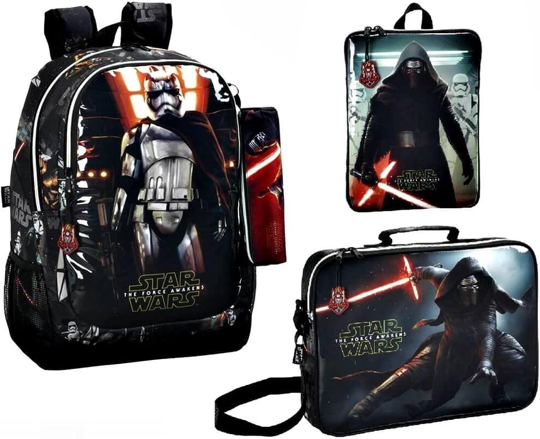Star Wars VII Backpack, School Bag and Tablet Pocket, Black