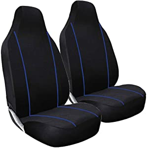 FSW 1 1 Blue Piping Car Front Deluxe Blue Piping Seat Covers Fits  3000GT  ASK  ASX  Challenger  Colt  FTO  Galant  Grandis  GTO  L200  Lancer  Mirage  Outlander  Shogun  Space Runner