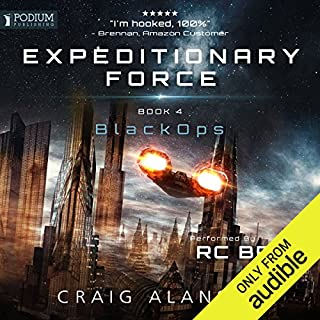 Black Ops     Expeditionary Force, Book 4              Written by:                                                                                                                                 Craig Alanson                               Narrated by:                                                                                                                                 R. C. Bray                      Length: 16 hrs and 44 mins     454 ratings     Overall 4.8