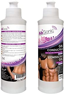 Absonic – Conductive Gel for Electrodes, Abs Stimulators, TENS, EMS, NuFace &..