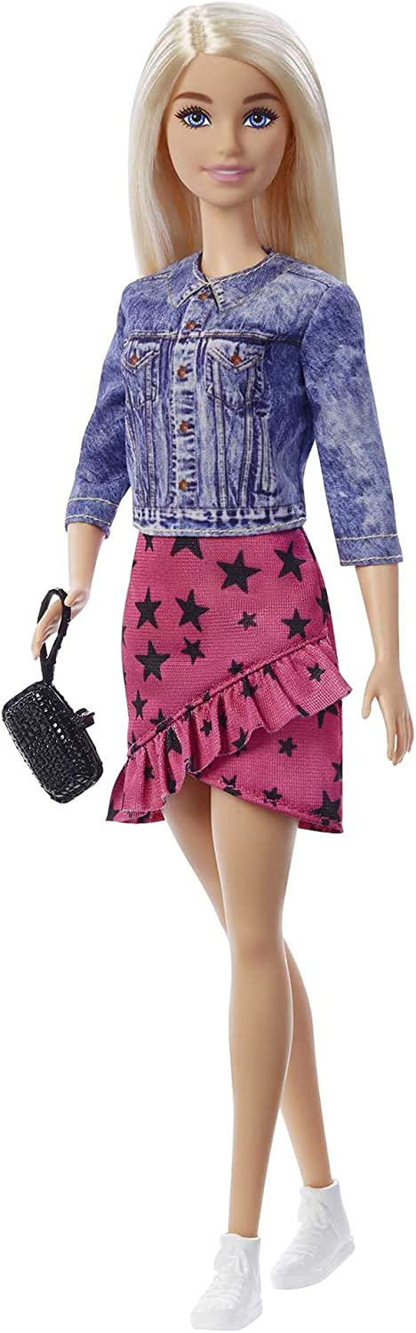 Barbie Big City Big Dreams Barbie Malibu Roberts Doll Blonde 11 5 In Wearing Jacket Skirt Accessories Gift For 3 To 7 Year Olds Amazon Co Uk Toys Games