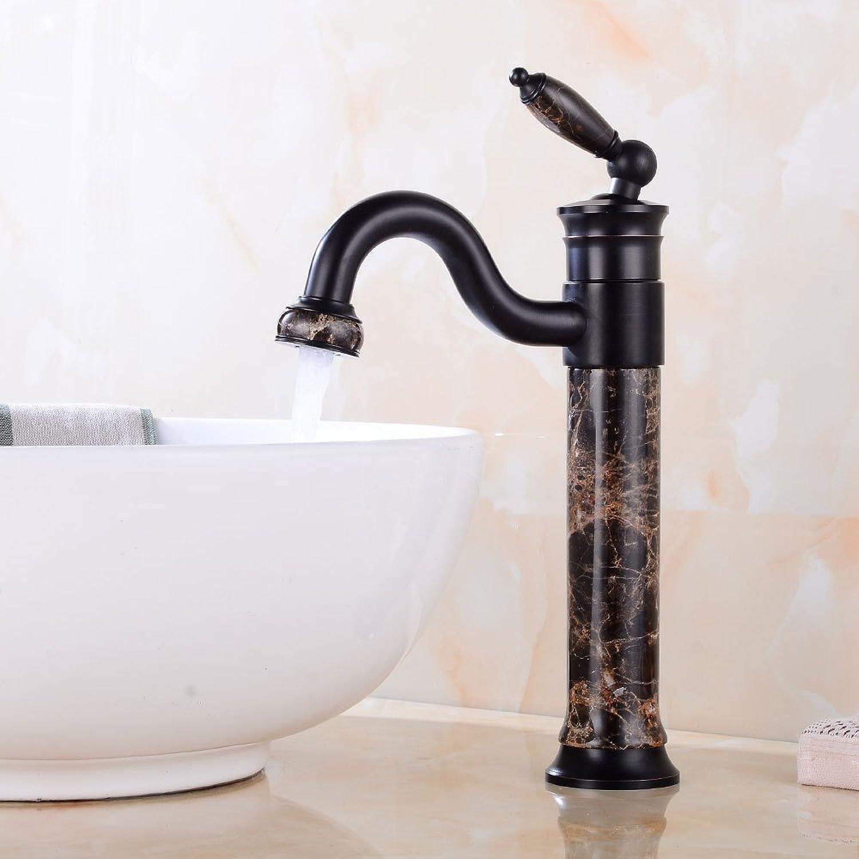 Europische schwarze alte Jade Wasserhahn Retro über Gegenbecken Wasserhahn Bad heien und kalten Waschbecken Wasserhahn drehen