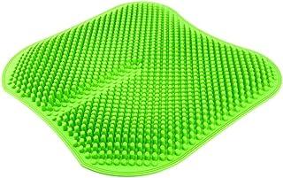 Asientos for automóviles, Malla de Gel de Silicona, sin Respaldo de Coches Cojín de Masaje de Alta Memoria de Silicona Transpirable Xingzhaozhao (Color : Green)