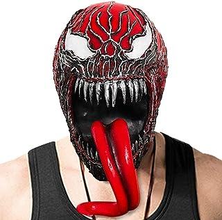 Horror Masks Men Venom : Let There Be Carnage Mask Scary Latex Masks for Halloween Venom 2 Mask for Adult (Color : Red)