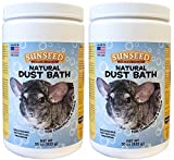 (2 Pack) Sunseed Natural Dust Bath for Chinchillas, 30 Ounces Per Container