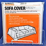 U-Haul Moving & Storage Sofa Cover (Fits Sofas up to 8' Long) - Water Resistant Plastic Sheet Couch Protection - 134' x 42'