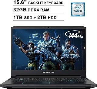 Acer 2019 Predator Helios 300 15.6 Inch FHD Gaming Laptop (9th Gen Intel 6-Core i7-9750H up to 4.5GHz, 32GB RAM, 1TB PCIe SSD + 2TB HDD, Backlit Keyboard, GTX 1660 Ti, WiFi, Bluetooth, Win 10)