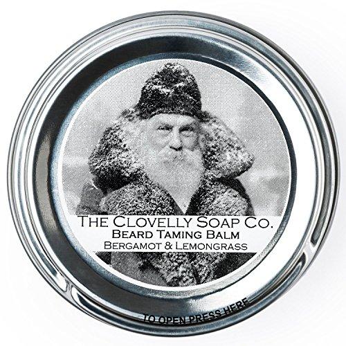 Clovelly Soap Co. Baume à Barbe - Naturel et Fait Main - Bergamote et Citronnelle - Boîte en Métal 40 g