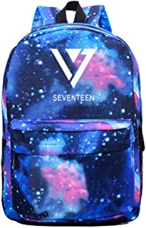 Kpop Seventeen Backpack Vernon Wonwoo Woozi Dino Schoolbag Starry Sky Satchel