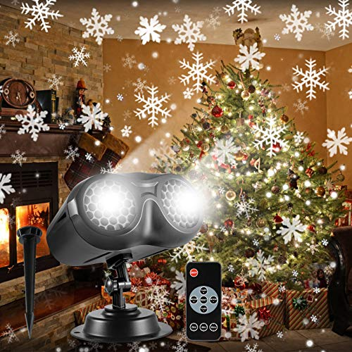 ALOVECO Christmas Snowflake Projector Lights Outdoor