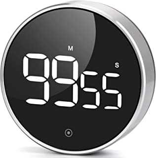 Digital Kitchen Timer, Large LED Magnetic Countdown timers with Constant Bright Function for Classroom, 3 Level Volume Sil...