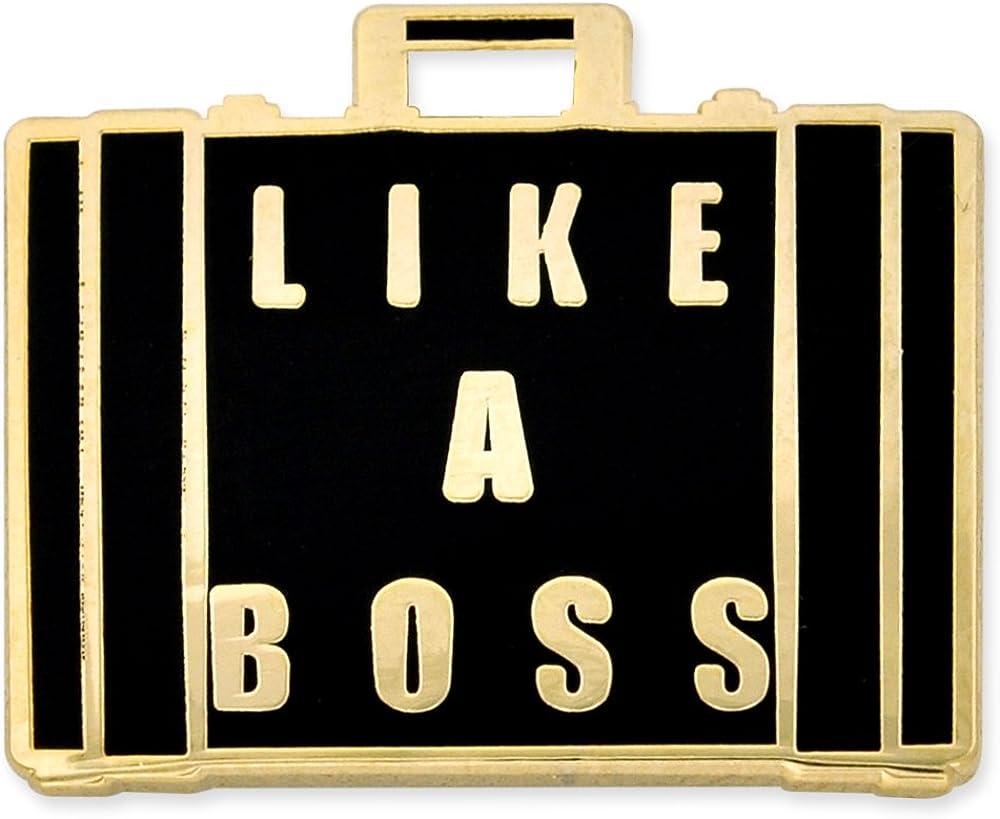 PinMart Like a Boss Briefcase Enamel Lapel Pin