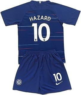 Enevva Hazard #10 Chelsea FC 2018-2019 Youths Home Soccer Jersey & Shorts