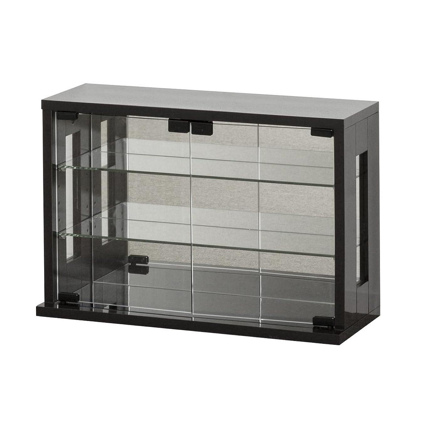 死すべき勝利したメロドラマティッククロシオ ガラスケース ダークブラウン 幅60×奥行23(20)×高さ40cm