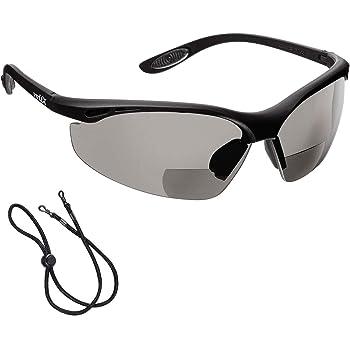 voltX CONSTRUCTOR (TRANSPARENTE dioptría 1.0) Gafas de Seguridad de Lectura BIFOCALES que cumplen con la certificación CE EN166F / Gafas para Ciclismo incluye cuerda de seguridad - Reading Safety: Amazon.es: Industria, empresas