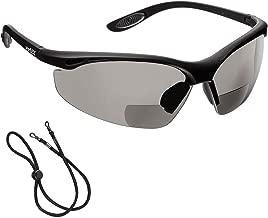 CE Clear +2.0 Dioptre Lens voltX GT ADJUSTABLE Bifocal Reading Safety Glasses