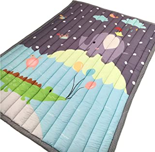 Prula Kids Teepee Mat Machine Washable Children Antiskid Play Mat Non-Slip Thicken Carpet Kids Bedroom Decor Elephant