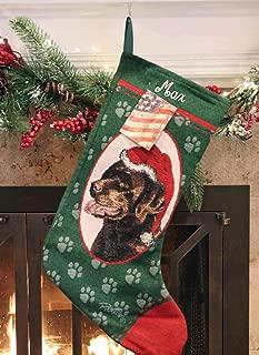 personalized chocolate lab christmas stockings