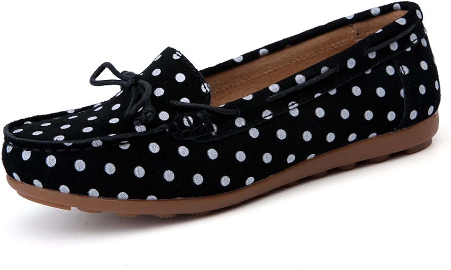 Be fearless Leather Women's Loafers Polka Dot Soft Slip On Driving Loafers Women Flat shoes