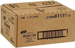 Philadelphia Original Cream Cheese Spread Cups, 1 ounce - 100 per case.