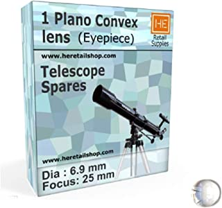 RETAIL SUPPLIES 1 Plano Convex Lens Dia , Optical Experiments, Telescope Eyepiece (6.9 mm, Focus 25 mm)